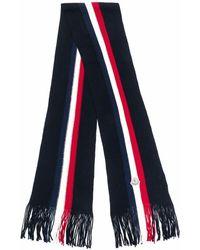 Moncler ロゴパッチ ニットスカーフ - ブラック