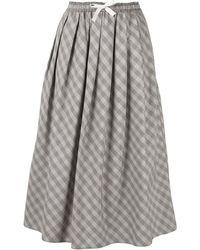Sofie D'Hoore チェック Aラインスカート - グレー
