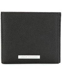 Armani Exchange 二つ折り財布 - ブラック