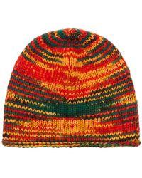 The Elder Statesman - Multicoloured Rasta Cashmere Beanie Hat - Lyst