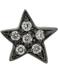Carolina Bucci 18kt Black Gold Diamond Star Earring - Черный
