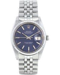 Rolex 1975 Pre-owned Datejust Horloge - Blauw