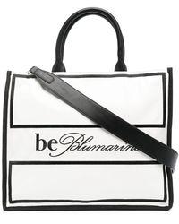 Blumarine バイカラー ハンドバッグ - ホワイト