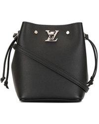 Louis Vuitton 2020 Pre-owned Nano Lock Me Bucket Bag - Black