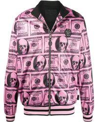 Philipp Plein Pink Paradise ボンバージャケット - ピンク