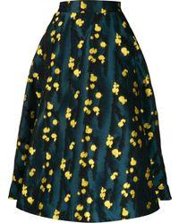 La DoubleJ Falda circular con motivo moteado - Azul