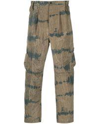 Henrik Vibskov Pantalones tipo cargo capri de dos tonos - Multicolor