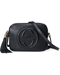Gucci Soho Small Leather Disco Bag - Black