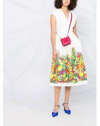 Boutique Moschino プリント ドレス - ホワイト