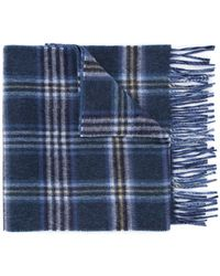 Gieves & Hawkes - Plaid Fringed Scarf - Lyst