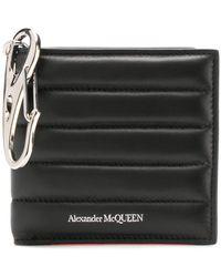 Alexander McQueen Portafoglio con effetto trapuntato - Nero