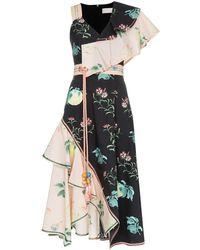 Peter Pilotto Vestido floral asimétrico - Multicolor