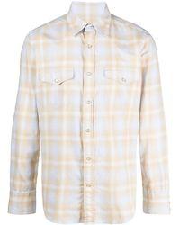 Tom Ford チェック シャツ - ホワイト