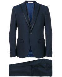 Corneliani - Satin Trim Two Piece Suit - Lyst