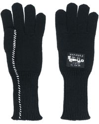 Raf Simons ニット手袋 - ブラック