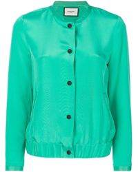 Max & Moi - Button Bomber Jacket - Lyst