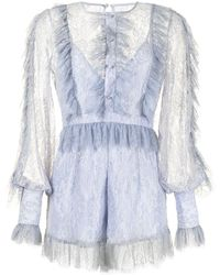 Alice McCALL Love My Way Lace Playsuit - Blue