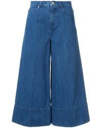Co.   Cropped Wide-legged Jeans   Lyst