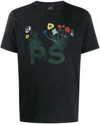 PS by Paul Smith フローラル Tシャツ - ブラック