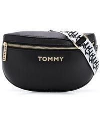 Tommy Hilfiger Sac banane à plaque logo - Noir