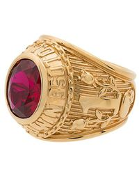 Ambush - Gold Class Ring With Faux Ruby - Lyst