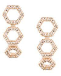Astley Clarke   Triple Honeycomb Stud Earrings   Lyst