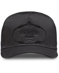 Prada - Embroidered Logo Cap - Lyst