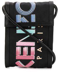KENZO Mini Logo Print Messenger Bag - Black