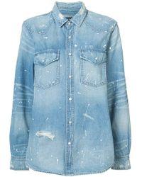 Amiri - Western Paint Denim Shirt - Lyst