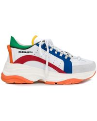 DSquared² Paneled Sneakers - White