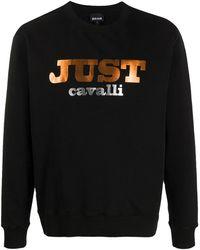 Just Cavalli ロゴ スウェットシャツ - ブラック