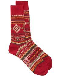 Yohji Yamamoto Nordic 靴下 - レッド