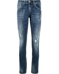 Dondup George Skinny-fit Distressed Jeans - Blue