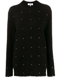 MSGM - Embroidered Knitted Jumper - Lyst