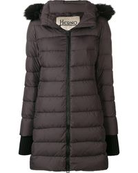 Herno Faux-fur Trimmed Hood Down Jacket - ブラウン