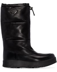 Prada レザー ブーツ - ブラック
