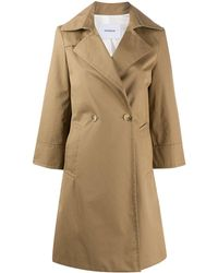 Dondup Double Breasted Coat - Natural