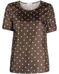 P.A.R.O.S.H. ポルカドット Tシャツ - ブラウン