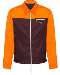 Prada Tweekleurige Shirtjas - Oranje