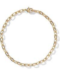 David Yurman 18kt Yellow Gold Dy Madison Thin 3mm Bracelet - Metallic