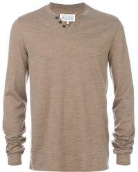 Maison Margiela - Knitted Henley Top - Lyst