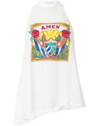 Amen - Embroidered Logo Patch Halter Top - Lyst