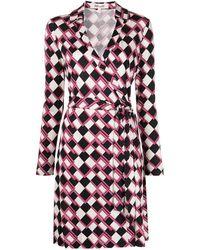 Diane von Furstenberg Jeanne ラップドレス - マルチカラー
