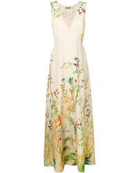 Alberta Ferretti Floral print maxi dress - Multicolore