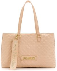 Love Moschino Grand sac à main matelassé - Neutre