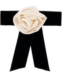 Philosophy Di Lorenzo Serafini - Velvet Rose Bow Ribbon Brooche - Lyst