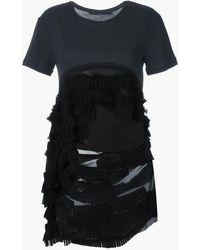 Haider Ackermann ハイローtシャツ - ブラック