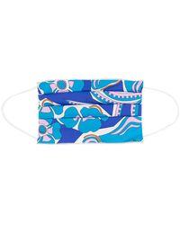 Emilio Pucci Masque à imprimé Samoa - Bleu