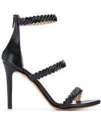 Albano - Textured Strap Court Shoes - Lyst