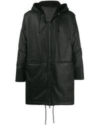 Giorgio Brato Mecuny コントラスト コート - ブラック